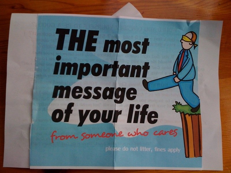 Most important message in your life?