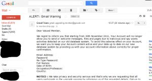 alert Gmail Warning